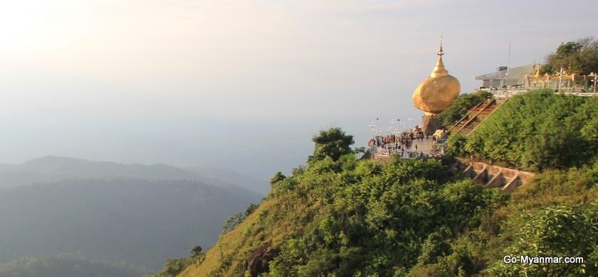 Mount Kyaiktiyo (the Golden Rock) information   Go-Myanmar.com
