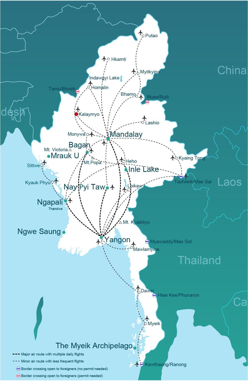 Getting to Kalaymyo (Kalay, Kaleymyo) | Go-Myanmar.com