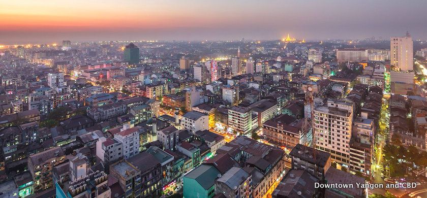 Downtown Yangon and CBD