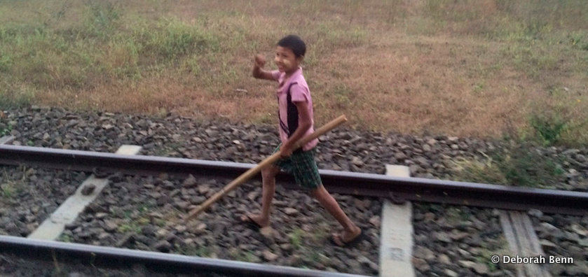 On rails from Bagan to Yangon