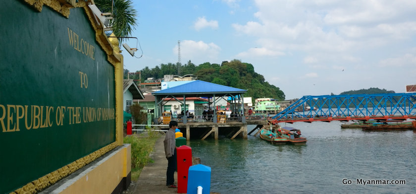 Main jetty at Kawthaung, the arrival and departure point for Ranong
