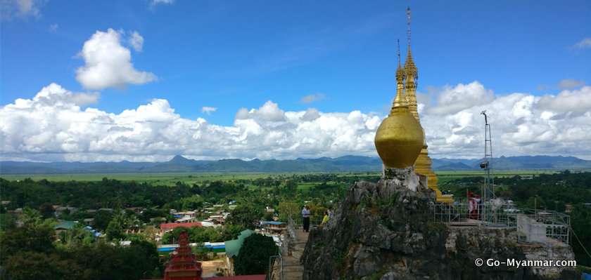 View north from Taung Kwe Pagoda