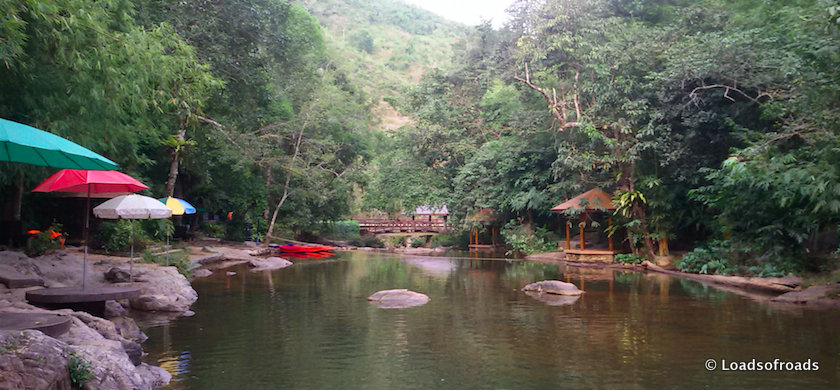 Maliwun waterfall swimming area