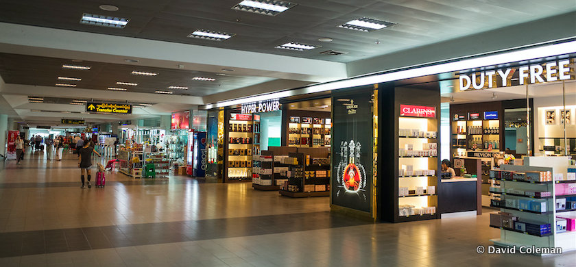 Mandalay International Airport shops