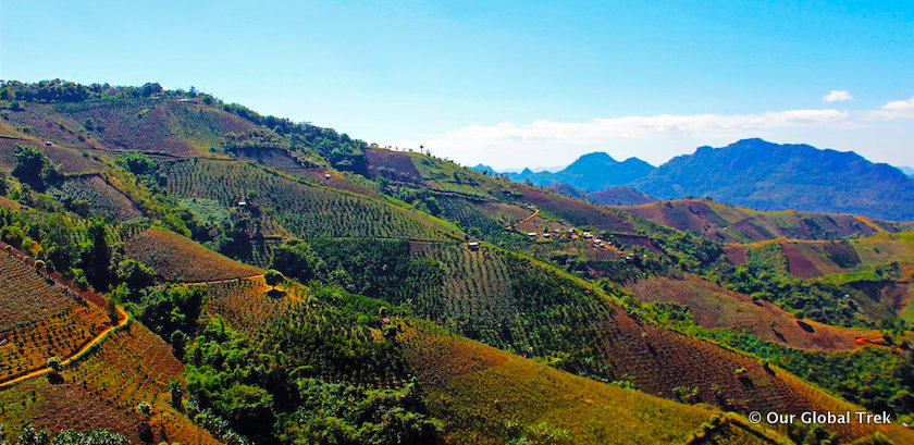 Scenery on Kalaw to Inle Lake hike