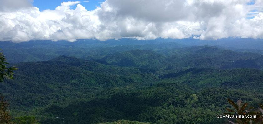 View from Naw Bu Baw Prayer Mountain