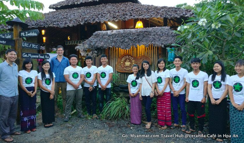 Go-Myanmar.com Travel Hub @Veranda Café in Hpa An